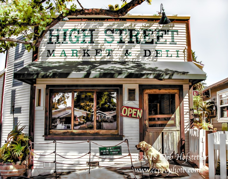 DOWN THE STREET Photographer Deb Hofstetter grew up living on the same street as High Street Deli in San Luis Obispo, back when it was just a market where she would buy Fireballs. - PHOTO BY DEB HOFSTETTER