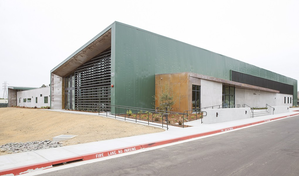 LONG WAIT OVER After several years of planning, fundraising, and construction, SLO's long-awaited homeless center at 40 Prado Road will open this month. - PHOTO BY JAYSON MELLOM