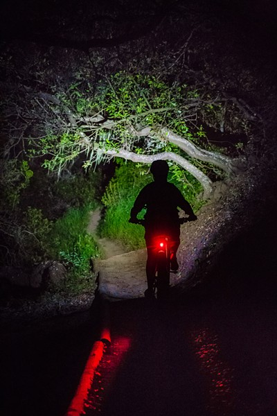 AFTER HOURS Cerro San Luis Mountain in SLO is now open for hiking and biking until 8:30 p.m., as part of a winter pilot program that launched on Nov. 4. Don't forget to claim a permit online, bring a light, and stay in groups. - FILE PHOTO BY JAYSON MELLOM