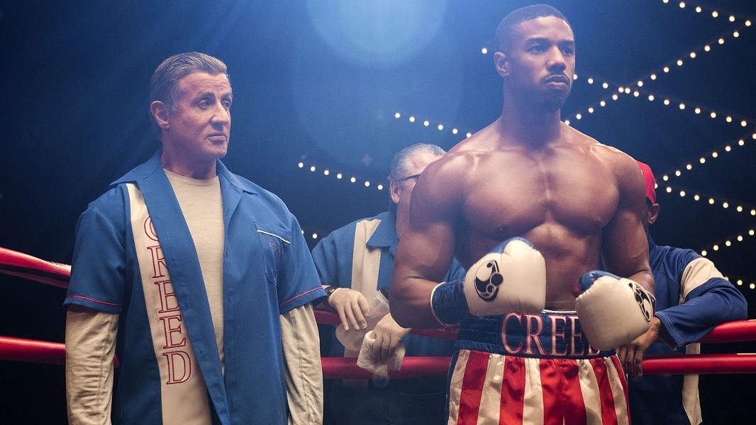 FIGHT NIGHT Sylvester Stallone stars as Ricky Balboa, now a fight trainer working with Adonis Creed (Michael B. Jordan), who plans to fight Viktor Drago, the son of Rocky's nemesis Ivan Drago, in Creed II. - PHOTO COURTESY OF METRO-GOLDWYN-MAYER STUDIOS