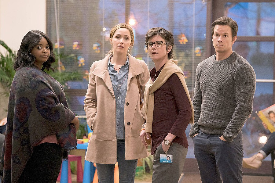 KID TROUBLE (Left to right) Octavia Spencer, Rose Byrne, Tig Notaro, and Mark Wahlberg star in the excellent comedy-drama Instant Family. - PHOTO COURTESY OF PARAMOUNT PICTURES