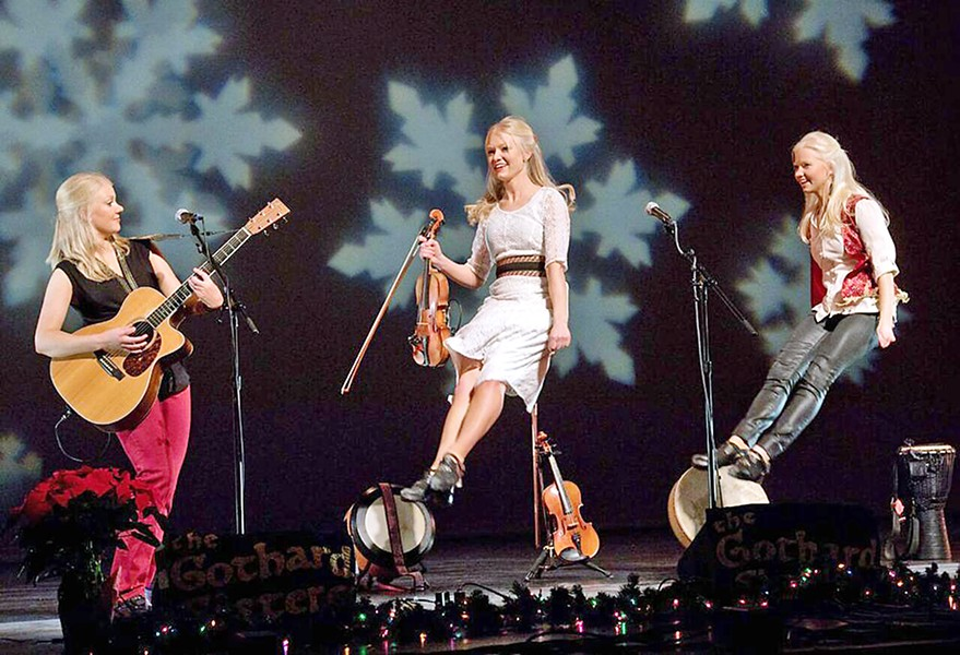 CELTIC QUEENS The Gothard Sisters play Coalesce Bookstore on Nov. 30 and Castoro Cellars on Dec. 1. - PHOTO COURTESY OF THE GOTHARD SISTERS