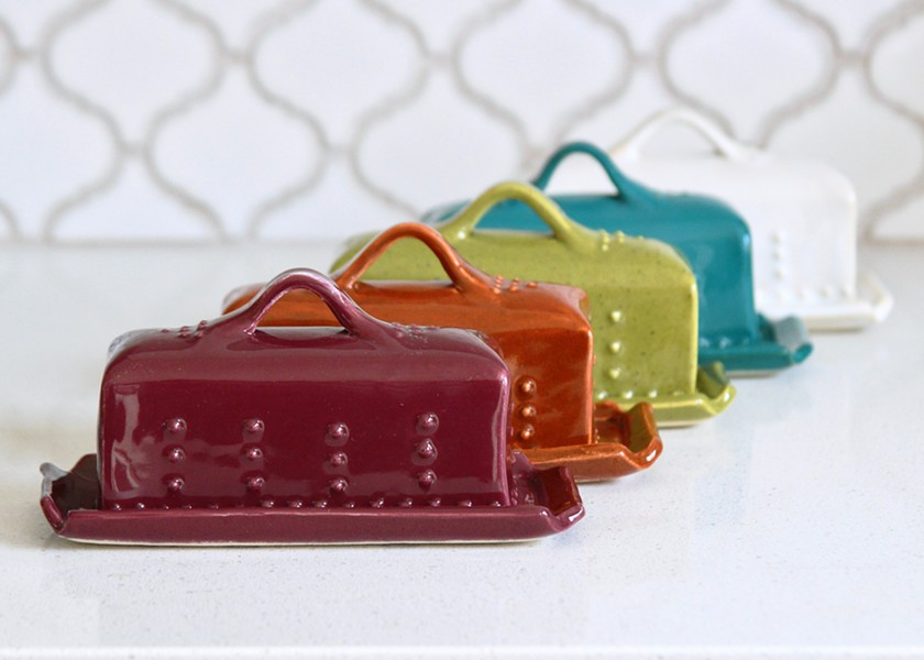 Butter dishes from Back Bay Pottery. - PHOTO COURTESY OF BACK BAY POTTERY