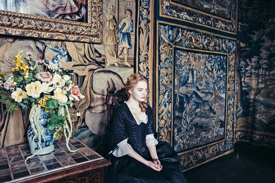 SYCOPHANT Abigail (Emma Stone), a new servant to Queen Anne, connives herself into a position of power, in The Favourite. - PHOTO COURTESY OF ELEMENT PICTURES