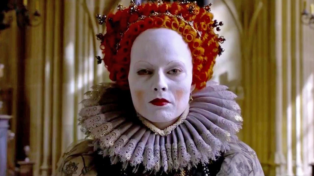 THE VIRGIN QUEEN Margo Robbie stars as Queen Elizabeth I, who must stave off treachery from both her male advisors and her cousin, Mary Stuart, in Mary Queen of Scots, screening exclusively at The Palm. - PHOTO COURTESY OF FOCUS FEATURES