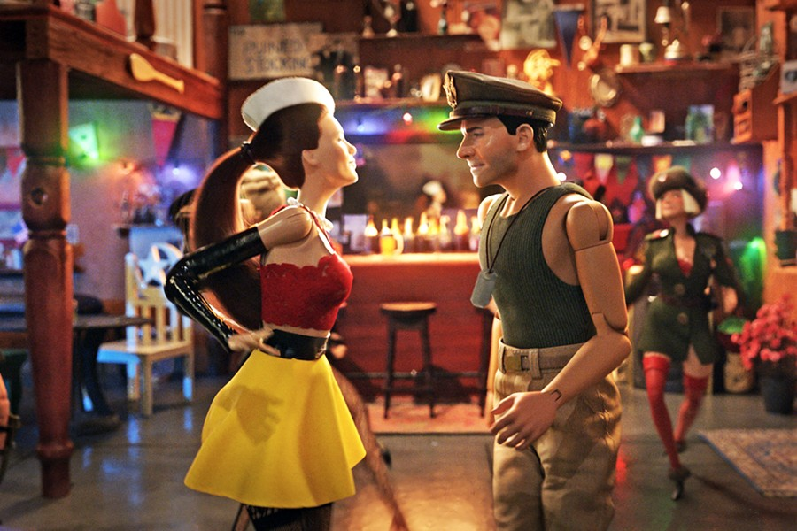 TOY SOLDIERS Mark Hogancamp (Steve Carell) creates a miniature town and fantasy friends to aid in his recovery after surviving a severe beating, in Welcome To Marwen. - PHOTO COURTESY OF DREAMWORKS AND UNIVERSAL PICTURES