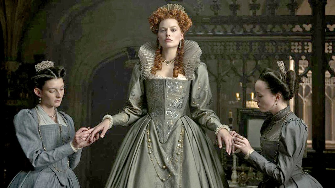 LONG LIVE THE QUEEN Queen Elizabeth I (Margot Robbie) must stave off treachery from both her male advisors and her cousin, Mary Stuart, in Mary Queen of Scots. - PHOTO COURTESY OF FOCUS FEATURES