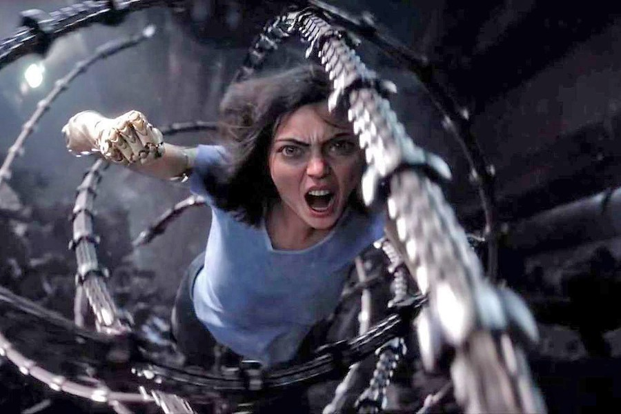 ANGEL OF DEATH A special effects-enhanced Rosa Salazar stars as the titular character in Alita: Battle Angel, about a human/cyborg hybrid out to right wrongs, opening on Feb. 14. - PHOTO COURTESY OF TWENTIETH CENTURY FOX