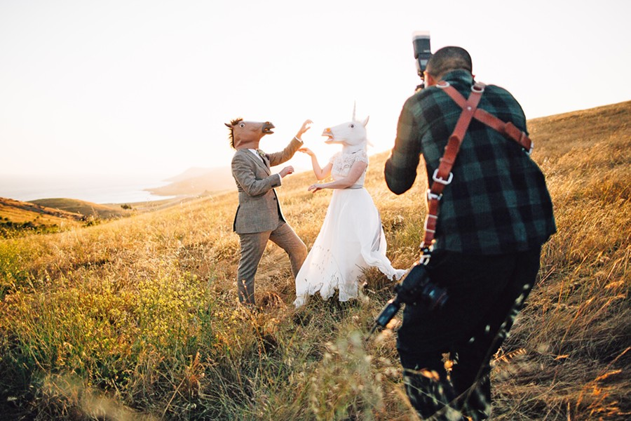 """HORSE SENSE OF HUMOR """"It's about getting to know your clients first, what makes them laugh and feel comfortable,"""" Photographer Jeffrey San Juan said. """"Then you just have to let if flow from there."""" - PHOTO COURTESY OF DANIELLE HONEA"""