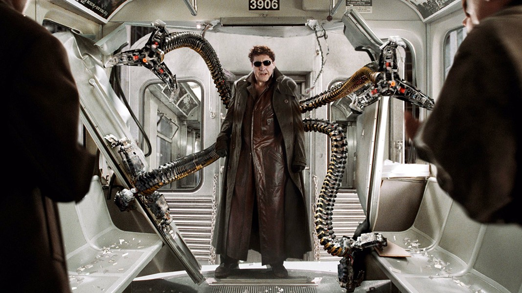 DOC OCK Veteran character actor Alfred Molina, this year's King Vidor Award winner at the SLOIFF, stars as Dr. Otto Octavius in the 2004 blockbuster, Spider-Man 2. - PHOTO COURTESY OF MARVEL ENTERPRISES