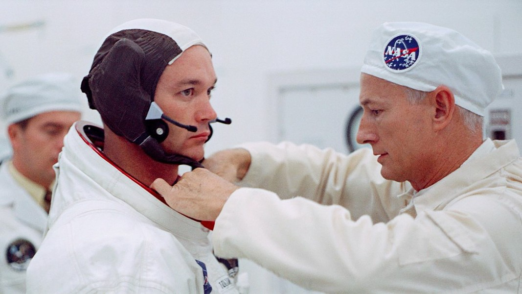 TRIGONOMETRY FOR THE WIN The new documentary, Apollo 11, transports viewers back to those heady days in 1969 when NASA sent men, including Buzz Aldrin (left), to the moon for the first time, screening exclusively at The Palm. - PHOTO COURTESY OF CNN FILMS