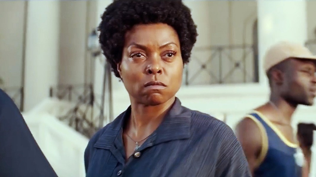 FIERCE Taraji P. Henson stars as civil rights activist Ann Atwater, who squares off against the local leader of the KKK in her fight for school integration in 1971 Durham, South Carolina, in The Best of Enemies. - PHOTO COURTESY OF ASTUTE FILMS