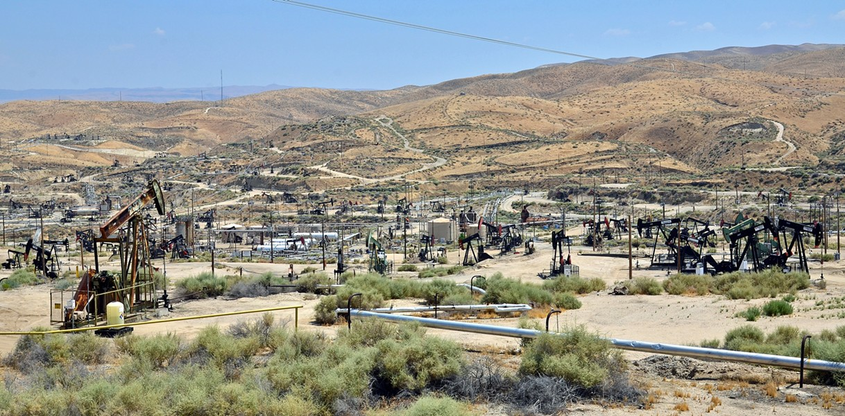 NEW DRILLING On May 22, SLO County residents will get a chance to comment on the U.S. Bureau of Management's plans to expand oil and gas production on public lands in Central California (Kern County pictured here). The federal agency will hold a public meeting at Embassy Suites in SLO on the subject. - PHOTO COURTESY OF THE U.S. BUREAU OF LAND MANAGEMENT