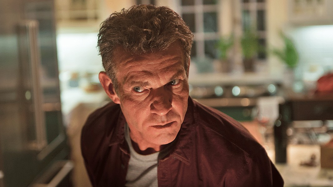 UNHINGED Dennis Quaid turns in a lively performance as Charlie Peck, a man who menaces the new owners of his property, in the otherwise derivative thriller The Intruder. - PHOTO COURTESY OF SCREEN GEMS