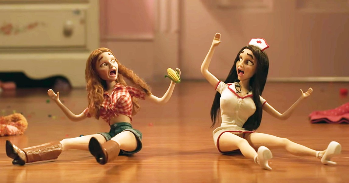 JUST SAY NO After being fed strawberries laced with drugs, Amy and Molly trip out, imagining themselves as Barbie dolls. - PHOTOS COURTESY OF ANNAPURNA PICTURES