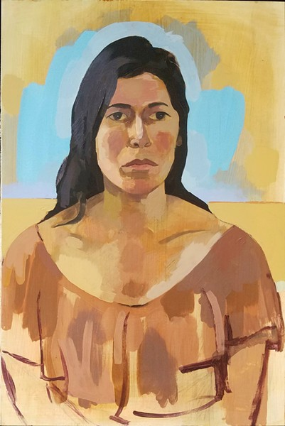 PORTRAITS In addition to his abstract work, artist Tony Girolo also paints portraits, like friend Coco Herda in Portrait of Coco. - IMAGES COURTESY OF TONY GIROLO
