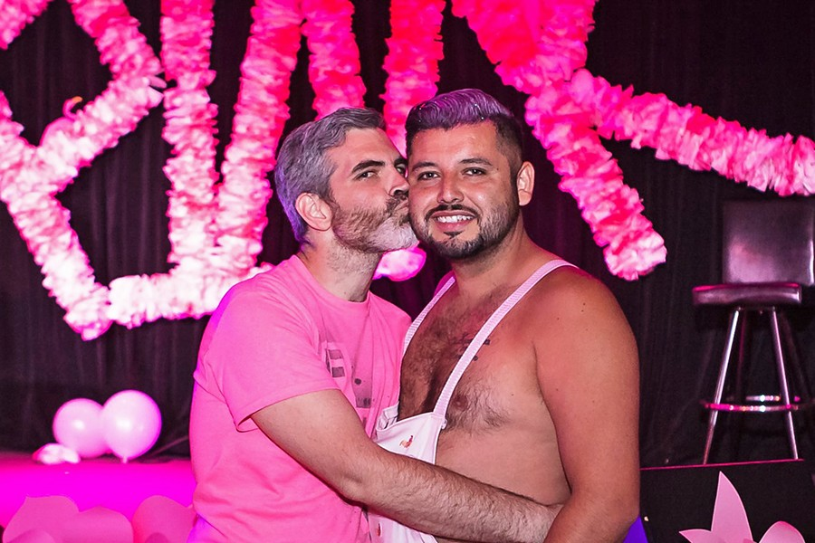 GAY CLUB ALCHEMISTS Daniel Gomez (left) and Frank Dominguez (right) are known for turning typical bars into hugely successful, LGBTQ-inclusive parties. SLOQueerdos will be hosting its annual pink party at the Siren in Morro Bay on July 3, and another Pride party at SLO Brew on July 13. - PHOTO COURTESY OF MATTHEW LALANNE