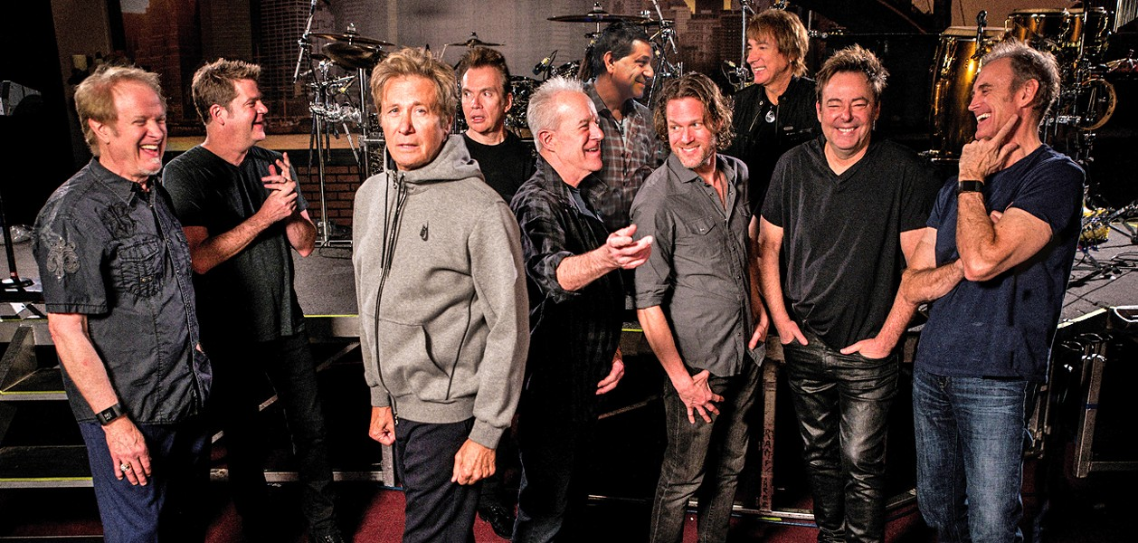 ROCK, HORNS, AND HITS Legendary rock band Chicago plays the Vina Robles Amphitheatre on July 24. - PHOTO COURTESY OF CHIGACO