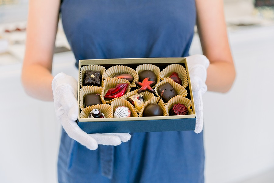 DIY LUXURY From Tequila Coffee Truffles to Cabernet Sea Salt Caramels, Sheila Kearns' innovative, luxury chocolates make chocolate tasting an extraordinary experience, especially when you design your own box. - PHOTOS COURTESY OF KELLEY WILLIAMS PHOTOGRAPHY