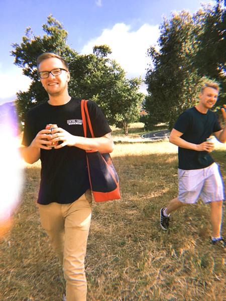 BACKYARD FINDS Nothing helps end the work day right like playing a game of disc golf with your friends Matt Trevino and Adam Aslin at the park. - PHOTOS BY KAREN GARCIA