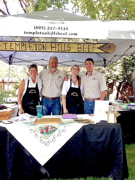 KNOW THY RANCHER Templeton Hills Beef is a family affair: Left to right is Darian Buckles, Will Woolley, Katie Emery, and Alton Emery. - PHOTO COURTESY OF WILL WOOLLEY
