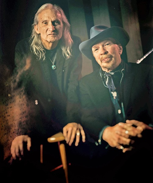 LIKE PEAS AND CARROTS Roots rocker Dave Alvin and Texas alt-country icon Jimmie Dale Gilmore play The Siren on Aug. 22. - PHOTO COURTESY OF TIM REESE PHOTOGRAPHY