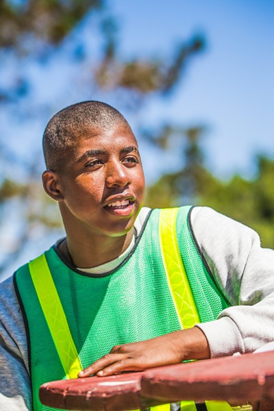 GROWING UP Ashton Tolliver said he's not only working on fixing his academic record, he wants to prepare for his next steps, with adulthood on the horizon: career in construction, owning a home, and having a family. - PHOTO BY JAYSON MELLOM