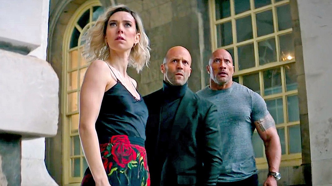 MISMATCHED Hattie (Vanessa Kirby), Deckard (Jason Statham), and Luke (Dwayne Johnson) reluctantly team up to stop a genetically enhanced super villain. - PHOTOS COURTESY OF UNIVERSAL PICTURES
