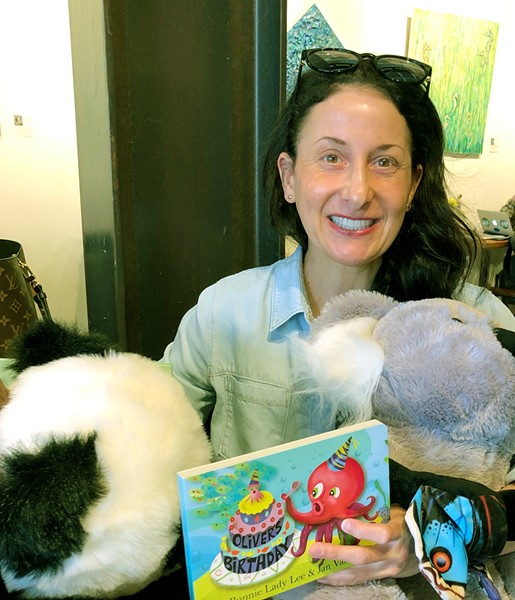 QUEEN OF THE JUNGLE In her career as a children's book author, Nipomo-based Bonnie Lady Lee has written about sloths, pandas, koalas, and more. - PHOTOS BY MALEA MARTIN