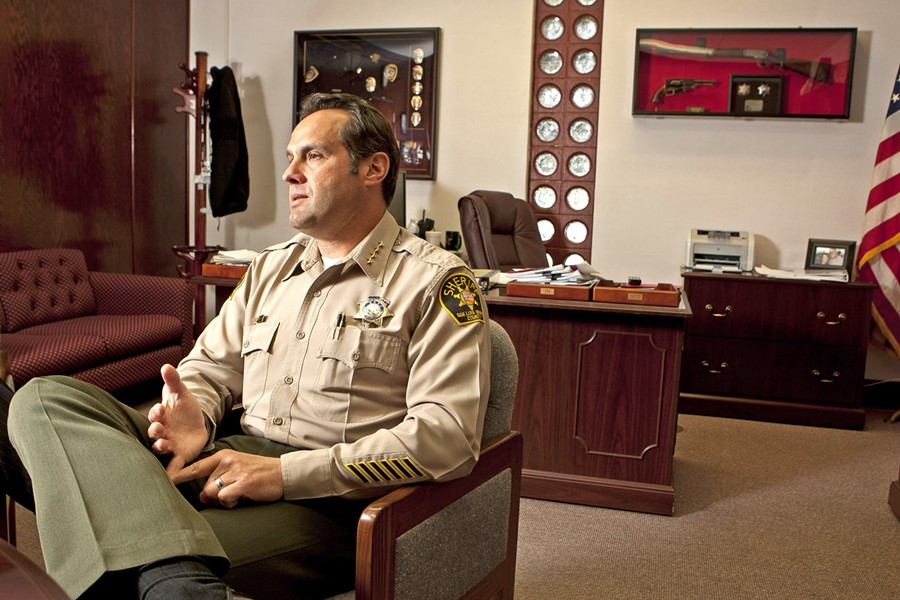WORKING OVERTIME SLO County Sheriff Ian Parkinson believes a pilot program to hire 12 new deputies will alleviate a spike in overtime costs. - FILE PHOTO BY STEVE E. MILLER