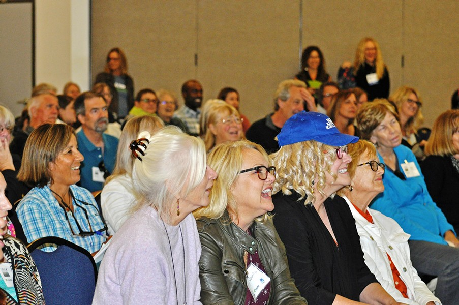 LEARNING WITH A LAUGH Attendees enjoy a session at the 2019 Central Coast Writers Conference, which was recently named the best of its kind in California by The Writer Magazine. - PHOTO COURTESY OF MEAGAN FRIBERG