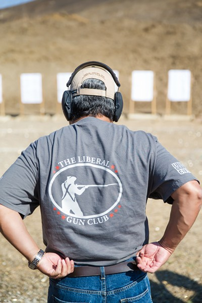 NOT THE NRA The Liberal Gun Club has been around since 2008, but since Donald Trump got elected president, its national membership has more than doubled. - PHOTO BY JAYSON MELLOM