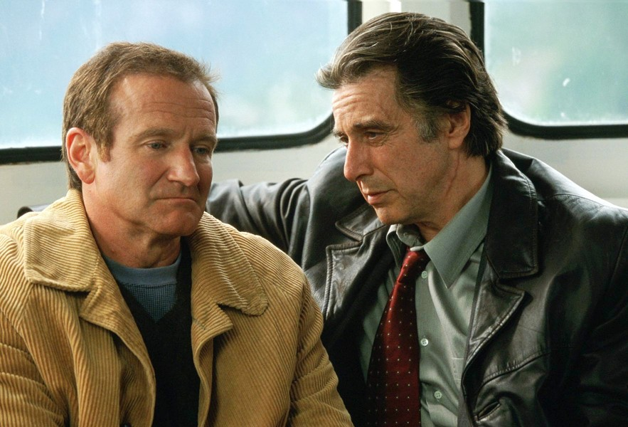 NO REST FOR THE WICKED Inner demons—combined with Alaska's midnight sun—won't let Robin Williams or Al Pacino get any sleep, in director Christopher Nolan's chilling thriller, Insomnia (2002). - PHOTO COURTESY OF WARNER BROS. PICTURES