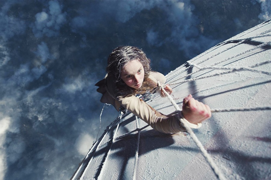 DEFYING DEATH In 1862, Amelia Wren (Felicity Jones) took flight in a gas balloon to attempt to fly higher than anyone in history, in The Aeronauts. - PHOTO COURTESY OF AMAZON STUDIOS