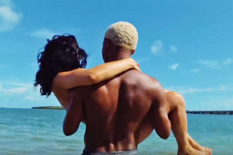 ONE MISTAKE Tyler (Kelvin Harrison Jr.) and his girlfriend, Alexis (Alexa Demie), find their lives turned upside down in the excellent family drama Waves, screening exclusively at The Palm Theater. - PHOTO COURTESY OF A24