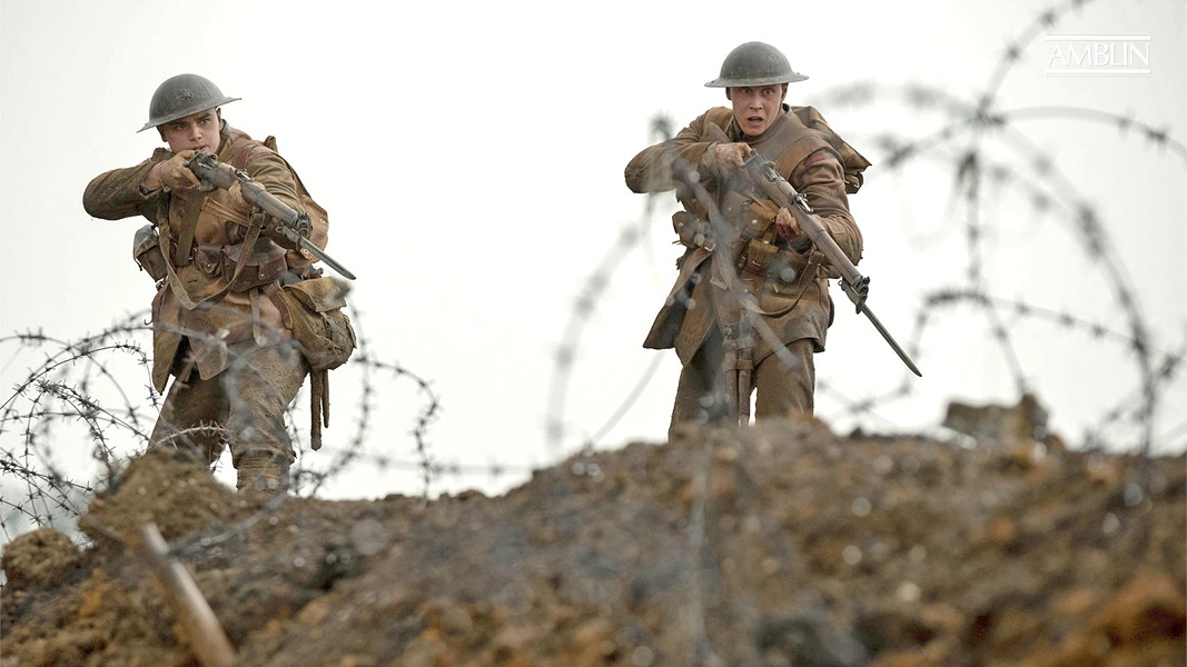DEADLY MISSION Two young British soldiers—Lance Cpl. Blake (Dean-Charles Chapman. left) and Lance Cpl. Schofield (George MacKay)—are tasked with crossing German lines to warn fellow soldiers of an ambush, in director Sam Mendes' World War I epic 1917. - PHOTO COURTESY OF DREAMWORKS