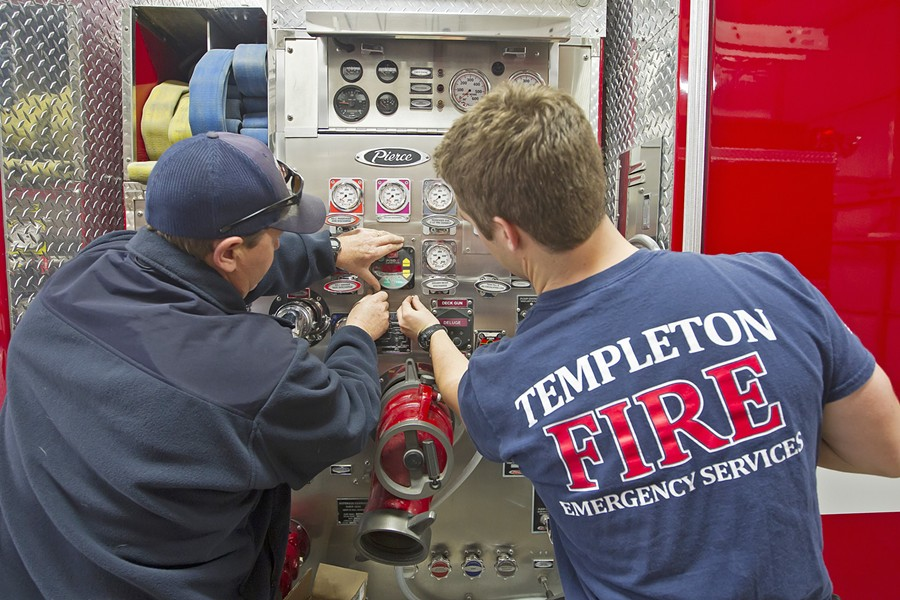 NEW LEADERSHIP At the end of the month Templeton Community Services District will begin the search for a fire chief. - FILE PHOTO BY JAYSON MELLOM