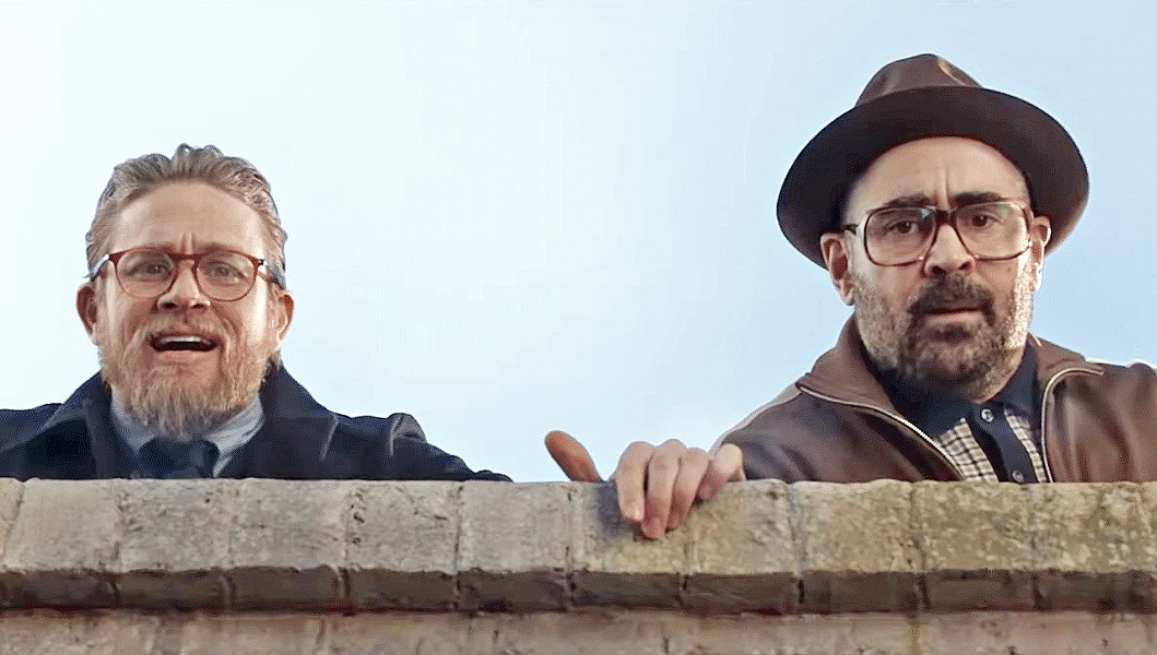 CRIME AND PUNISHMENT Raymond (Charlie Hunnam, left) and Coach (Colin Farrell) find themselves tangled in a criminal mess, in Guy Ritchie's The Gentlemen. - PHOTO COURTESY OF MIRAMAX