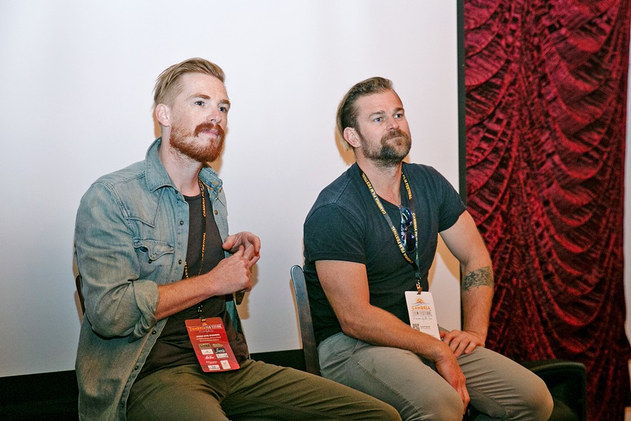 2019 WINNERS Michael Whaley (left) and Tony Prescott of The Pretend One lead a discussion with 2019 Cambria Film Festival Attendees. - PHOTO COURTESY OF LINDA MCDONALD