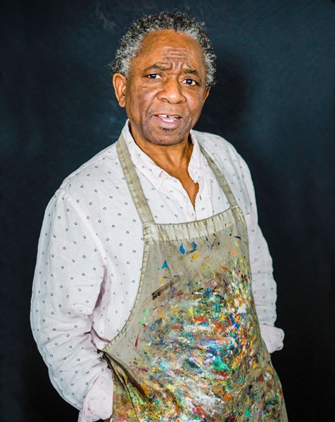CREATIVE HAPPINESS Abbey Onikoyi is a local artist whose work focuses on African culture. His art is currently on display at the San Luis Obispo County Library. - PHOTO COURTESY OF RENODA CAMPBELL