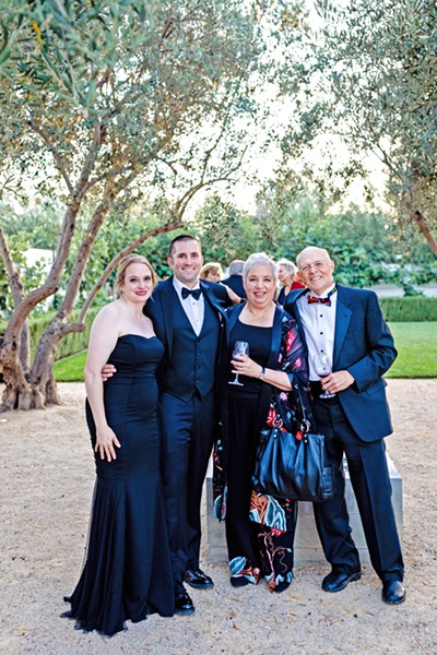THE FAMILY From left to right: Lauren and Alan Donovan and Joanne and Philip Ruggles at Joanne and Phil's 50th wedding anniversary party in August 2018. - PHOTO COURTESY OF BLAKE ANDREWS