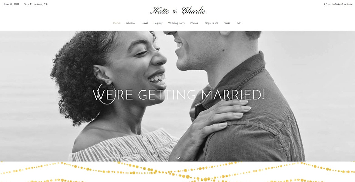 """BE ROMANTIC In the """"About us"""" page of your wedding website, keep it about the """"us"""" part of you. Focus on the romance. And keep your blurb simple—no one needs your whole life story. - IMAGE COURTESY OF THE SPRUCE"""