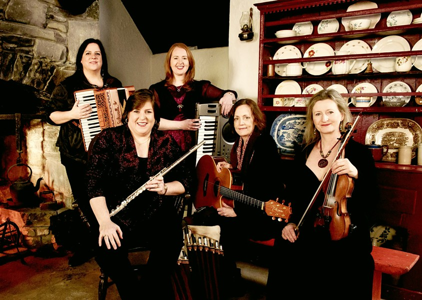 FEMME FANTASTIC All-female Celtic band Cherish the Ladies plays Harold Miossi Hall in the Performing Arts Center on March 12. - PHOTO COURTESY OF CHERISH THE LADIES