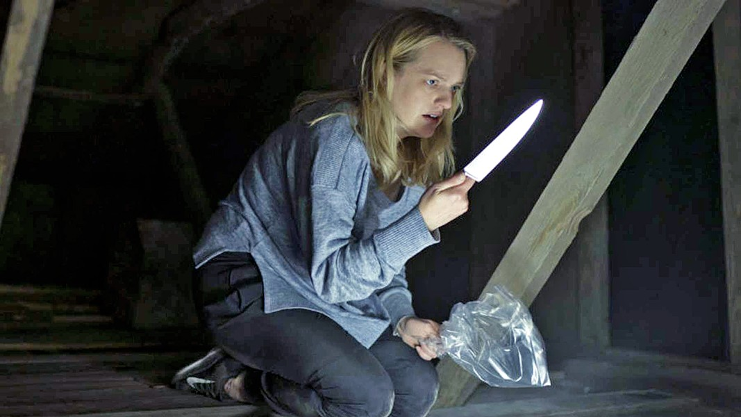 SET UP After her abusive partner stages his suicide and uses his invention of invisibility to frame her as an insane criminal, Cecilia (Elisabeth Moss) must find the strength to fight back. - PHOTOS COURTESY OF BLUMHOUSE PRODUCTIONS