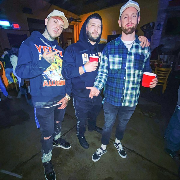PRODIGAL SONS Longhaul Music Group and Wild 106 presents (left to right) former locals Kody Balboa, Wynn, and James Kaye, who'll come up from LA for a huge hip-hop party on March 13, in SLO Brew Rock. - PHOTO COURTESY OF LONGHAUL MUSIC GROUP