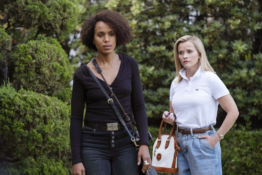 FRENEMIES Picture perfect Elena Richardson (Reese Witherspoon, right) and poor single mom Mia (Kerry Washington) develop an uneasy relationship after Elena rents Mia an apartment and hires her to help around her house, in Little Fires Everywhere, available on Hulu. - PHOTO COURTESY OF HULU