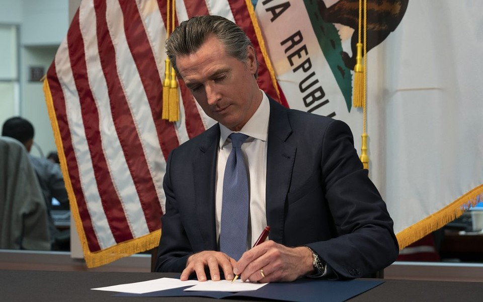 NEXT STEPS During a press conference on April 14, Gov. Gavin Newsom outlined the framework the state will use to decide when to lift the existing stay-at-home order. - PHOTO COURTESY OFFICE OF GOVERNOR GAVIN NEWSOM