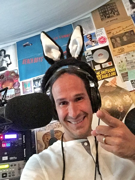 THE FOUNDER Hal Abrams started Morro Bay's nonprofit community radio station The Rock 97.3FM out of his home. - PHOTO COURTESY OF HAL ABRAMS