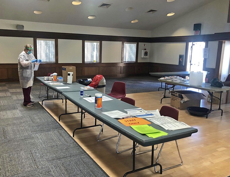 MORE TESTING New COVID-19 test sites are coming to SLO and Santa Barbara counties, similar to this state-sponsored clinic in Grover Beach. - FILE PHOTO COURTESY OF MATT BRONSON