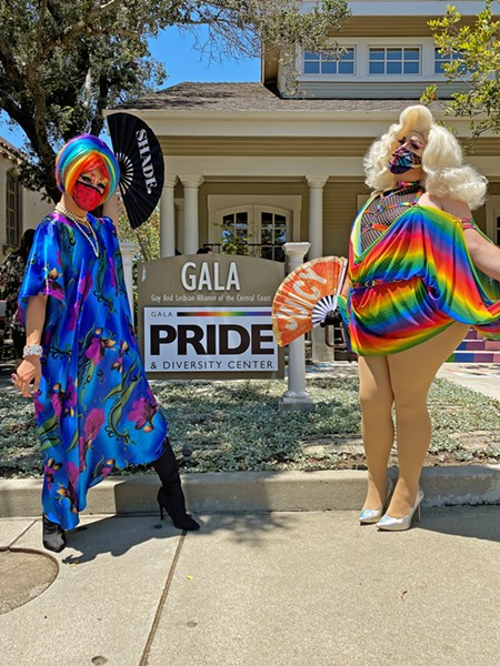 CELEBRATE Nala Diamond (left) and Juicy CW (right) celebrate Pride Month on June 27. With the June 15 Supreme Court decision on Title VII, LGBTQ-plus activists had another reason to celebrate in 2020. But they say there's still much more progress to be made. - PHOTO BY KAREN GARCIA